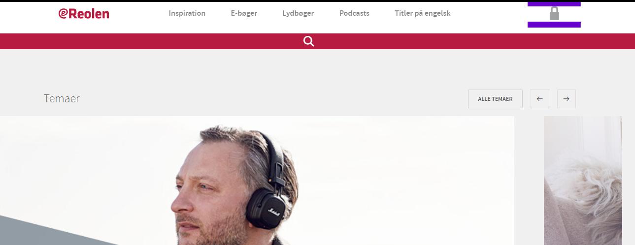 ereolen login frontpage
