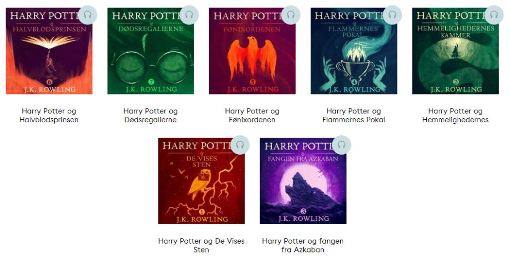Harry Potter lydbog originale bøger