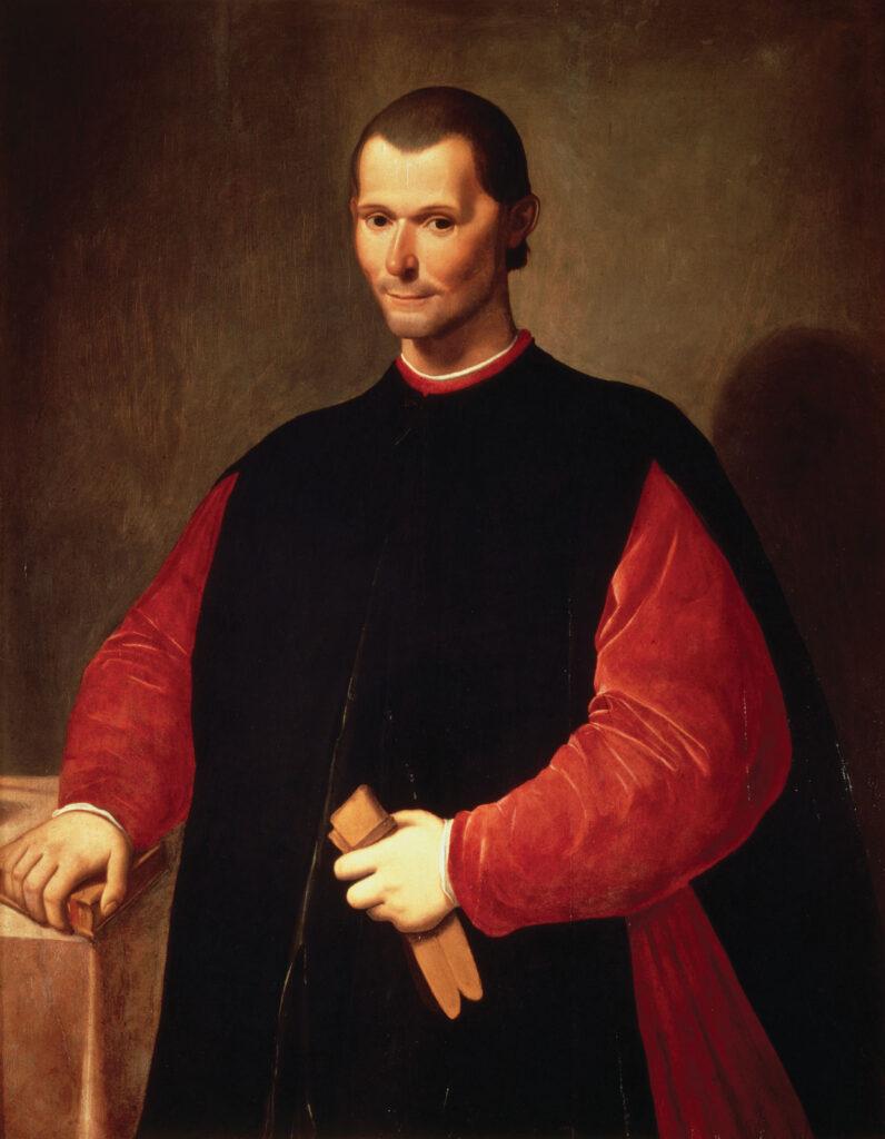 Portræt af Niccoló Machiavelli
